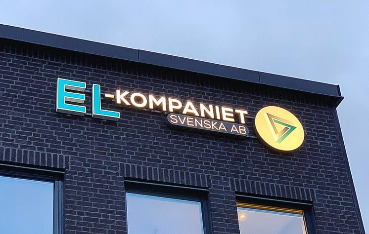 led skylt gjord av skyltcompaniet EL-Kompaniet Svenska AB